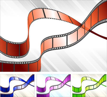 Film Reel Set Original Vector Illustration Film Reel Ideal for Film Concept