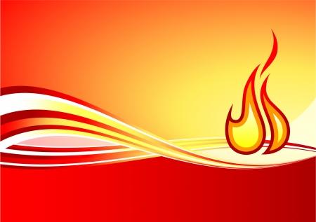 compatible: Illustration originale de vecteur: flamme internet fond AI8 compatible