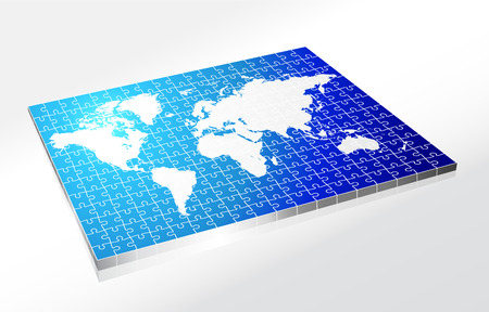 Complete Puzzle of World Map Original Vector Illustration Complete Puzzle Ideal for Business Concept Vector