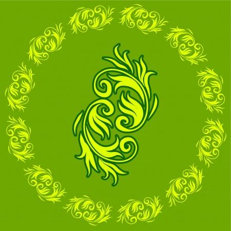 抽象的な花緑のデザイン パターン オリジナルのベクター イラスト Coloredful デザイン パターンに最適の抽象的な背景