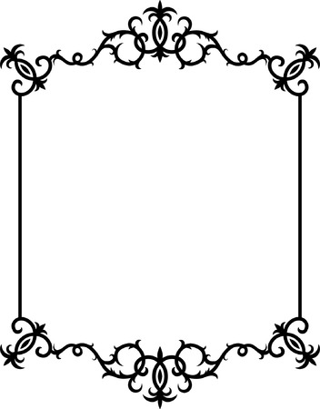 Abstract Black and White Frame Original Vector Illustration Black and White Design Pattern Ideal for Abstract Background
