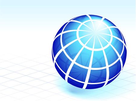 compatible: Illustration originale de vecteur: entreprise globe AI8 compatible