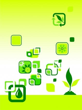Environmental Icons Original Vector Illustration Green Nature Concept