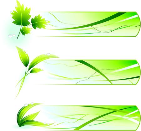 Green Nature Icons  with Banners Original Vector Illustration Green Nature Concept Illusztráció