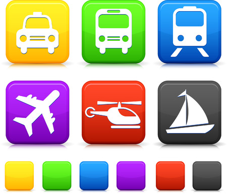 Transportation icon on internet buttons Original vector Illustration Vector