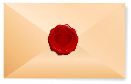 Letter with Wax Seal Original Vector Illustration  Vector