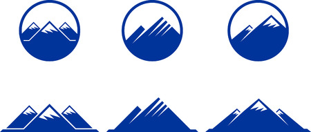 Mountain Icons Original Vector Illustration Nsture Concept