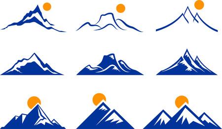 Mountain IconsOriginal Vector IllustrationNsture Concept Stock Illustratie