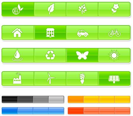 Nature Bar IconsOriginal vector Illustration
