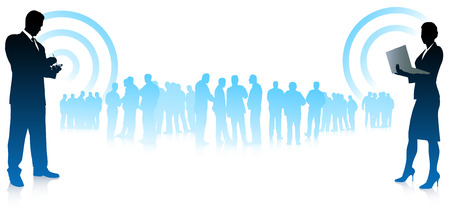 Business team communicationOriginal Vector Illustration
