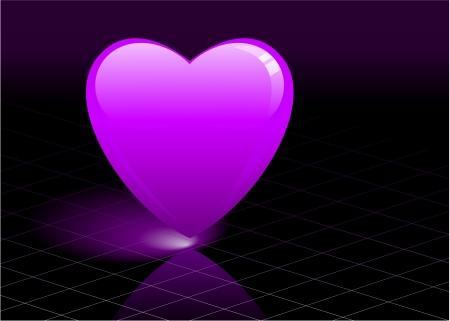 Original Vector Illustration: purple heart AI8 compatible