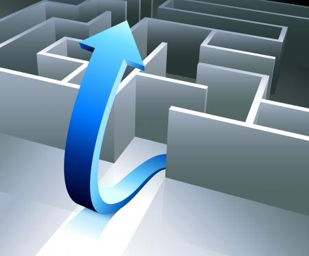 Complete the Maze Original Vector Illustration Maze Illustration Ideal for Business Concept