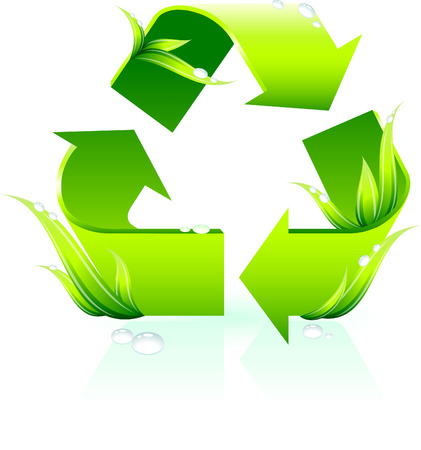 Recycle SymbolOriginal Vector IllustrationGreen Nature Concept Illusztráció