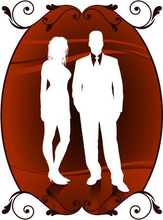 couple lit: Original Vector Illustration: sexy couple AI8 compatible