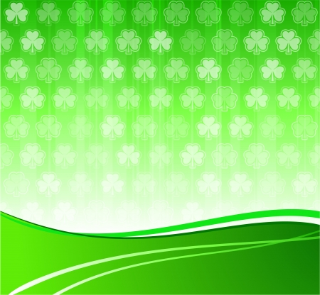 Original Vector Illustration: green clover leaf background AI8 compatible