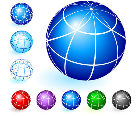 grren: Globe Set Original Vector Illustration Globe Set Ideal for Business concept