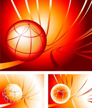 Globe SetOriginal Vector IllustrationGlobe Set Ideal for Business concept 矢量图像