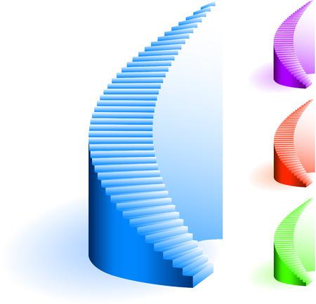 Stairs SetOriginal Vector IllustrationSimple Image Illustration