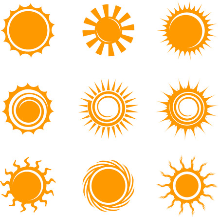 Sun IconsOriginal Vector IllustrationNsture Concept