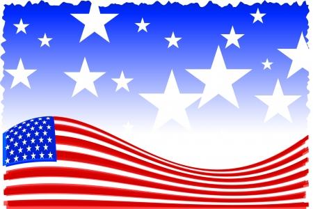 Original Vector Illustration: american patriot background AI8 compatible Иллюстрация