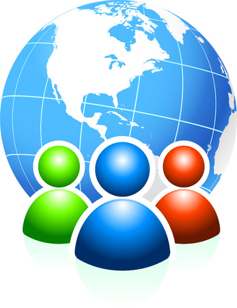 unrecognizable person: Global Communication Original Vector Illustration Ideal for internet concepts