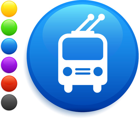 subway icon on round internet buttonoriginal vector illustration6 color versions included 向量圖像