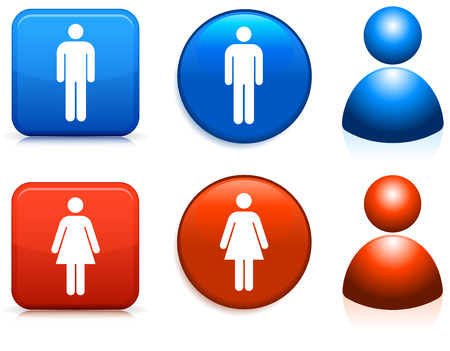 Original vector illustration: male and female icons