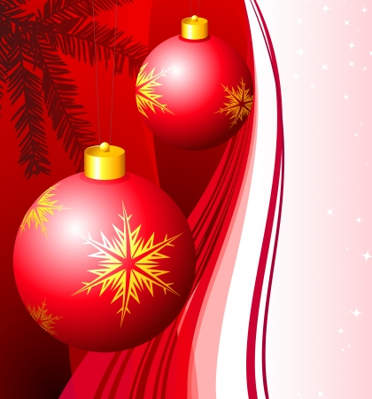 Holiday background with Christmas Ornament and tree.