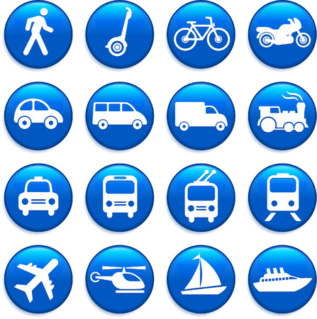 Original vector illustration: Transportation icons design elements Illustration