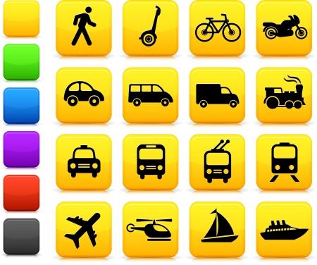 Original vector illustration: Transportation icons design elements Vector