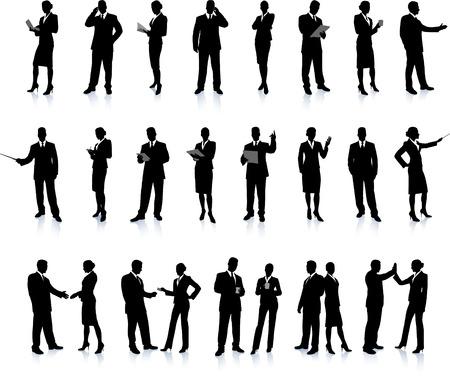 compatible: Jeu de super affaires silhouette de personnes 26 uniques haute-d�taill�es silhouettes mettant en vedette des mod�les sexy belles Chaque silhouette est regroup�e. Le fichier est 8 AI compatible et facile � g�rer  Illustration
