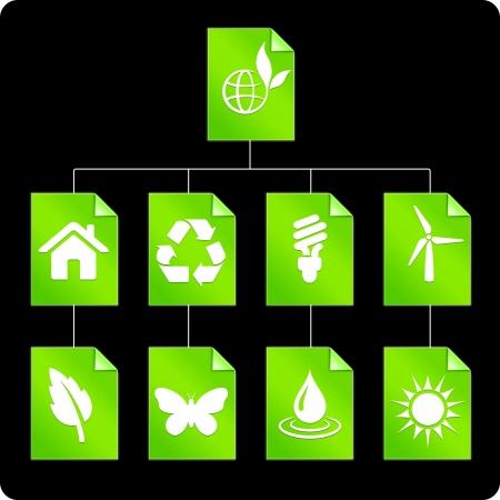 Environmental Paper DiagramOriginal Vector IllustrationAI 8 Compatible File