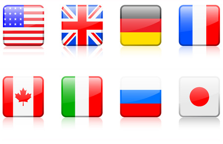 Original vector illustration: World flag series G8 countries Vectores