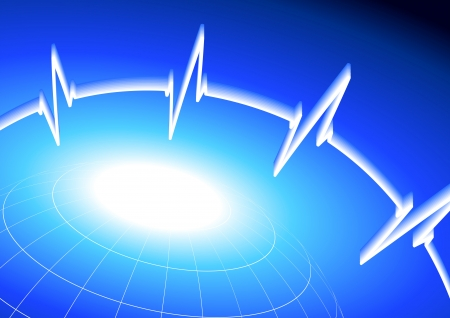 Original Vector Illustration: heart rate pulse on business bacckground AI8 compatible