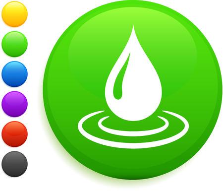 rain drop icon on round internet buttonoriginal vector illustration6 color versions included