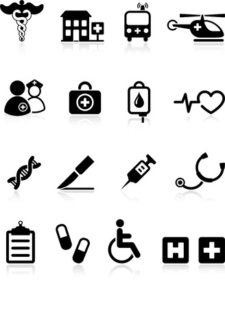 taking pulse: Original vector illustration: medical hospital  internet icon collection