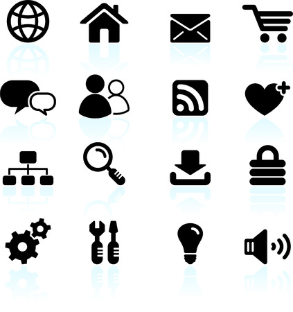 Original vector illustration: internet design icon set Illustration