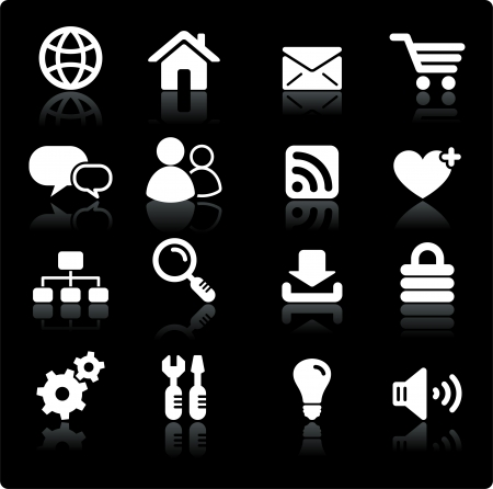 Original vector illustration: internet design icon set Vector