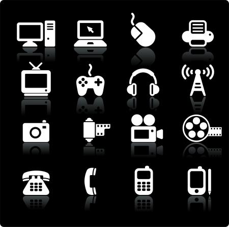 television aerial: Original vector illustration: technology and communication design elements