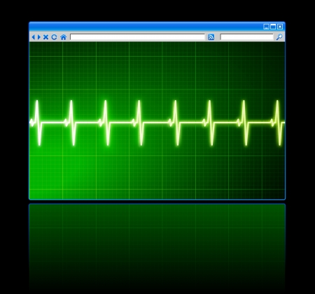 Original Vector Illustration: pulse on web browserAI8 compatible