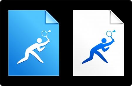 raquet: Badminton on Paper Set Original Vector Illustration AI 8 Compatible File