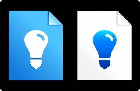 Light Bulb on Paper Set Original Vector Illustration AI 8 Compatible File  Vector