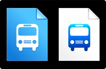 Bus on Paper Set Original Vector Illustration AI 8 Compatible File