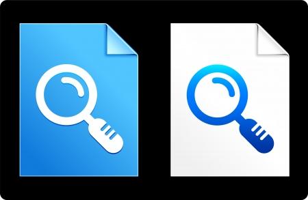 Magnifying Glass on Paper Set Original Vector Illustration AI 8 Compatible File  Vector