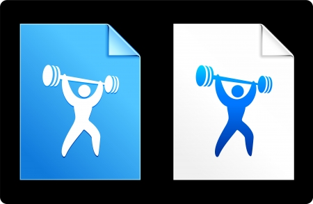compatible: Weightlifting on Paper Set Original Vector Illustration AI 8 Compatible File  Illustration