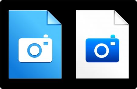 Camera on Paper Set Original Vector Illustration AI 8 Compatible File