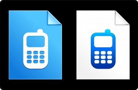 palm pilot: Cellphone on Paper Set Original Vector Illustration AI 8 Compatible File