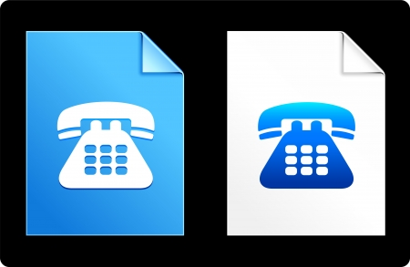 phonecall: Telephone on Paper Set Original Vector Illustration AI 8 Compatible File