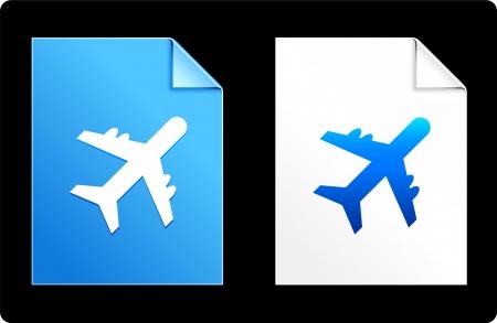 Airplane on Paper SetOriginal Vector IllustrationAI 8 Compatible File Ilustrace