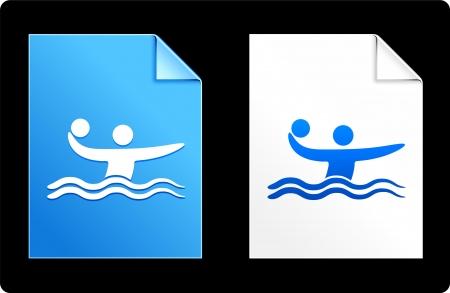 Water Polo on Paper Set Original Vector Illustration AI 8 Compatible File